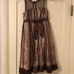 Other - Brown and sequence dress